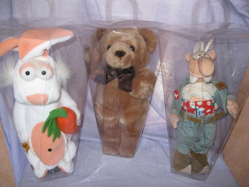 Мягкие игрушки как упаковка для подарка 554